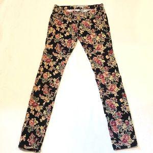 Free People Pants | Flower Corduroy | Stretch